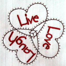 Live love laugh 97x98 mm