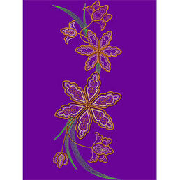 Fancy flower Mega 140x357 mm